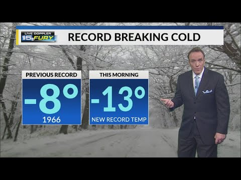 News At Noon: Record Cold In Fort Wayne