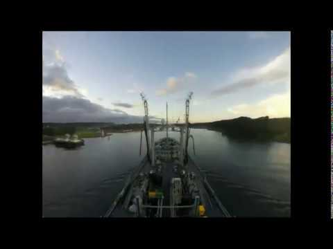 Gold Rover Timelapse   Panama Canal Transit
