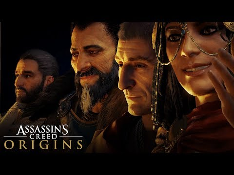 Assassin's Creed Origins - ALL HISTORICAL CHARACTER SCENES (All Cleopatra/Ceasar/Pompey Cutscenes)