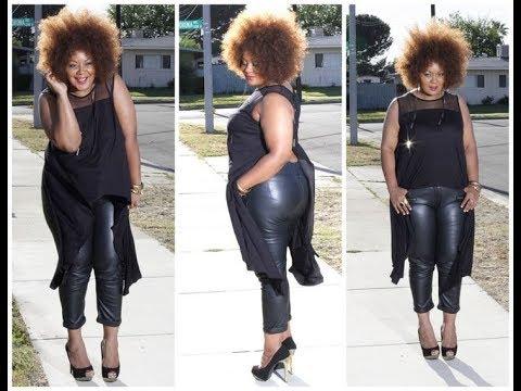 8c805461673 Plus Size Faux Leather Pants