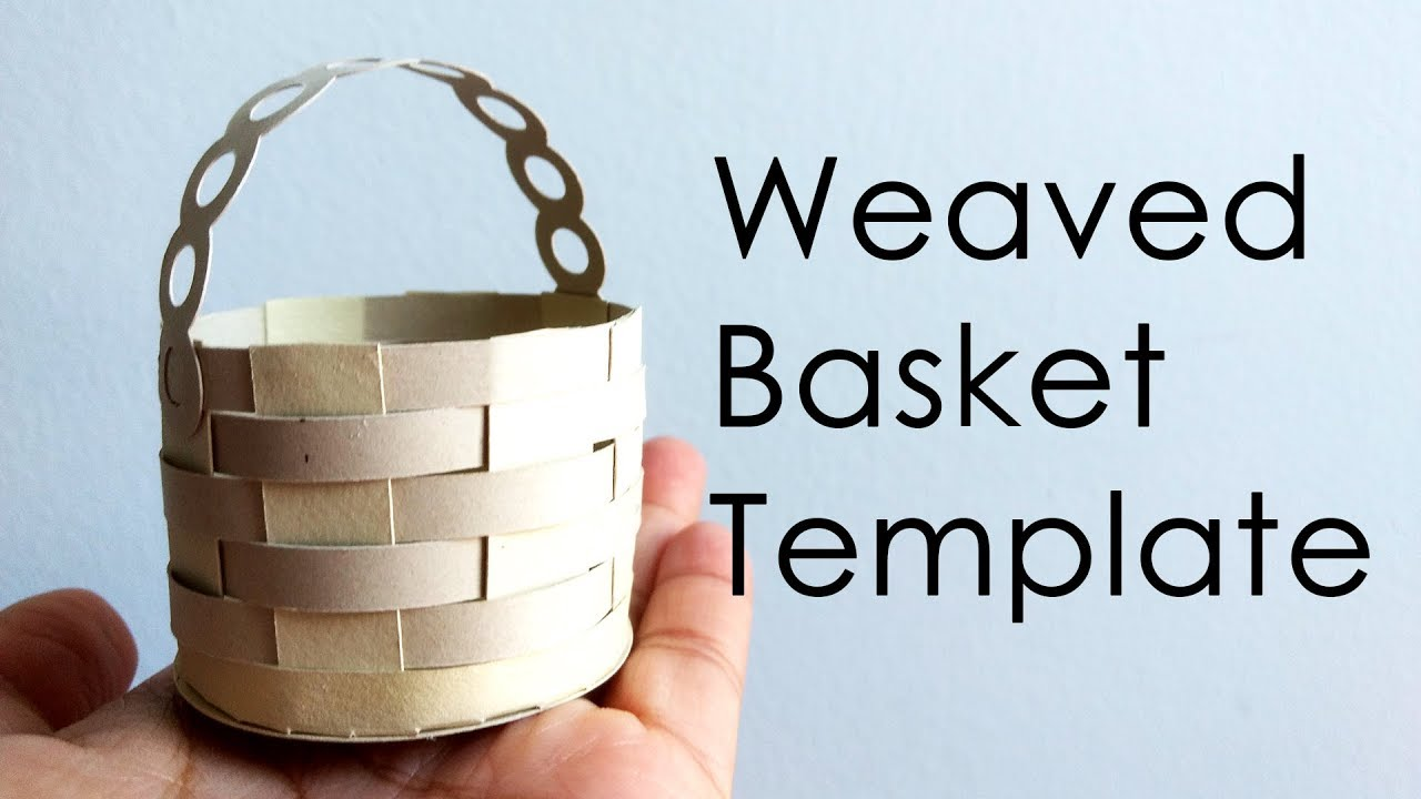 tutorial template how to make weaved paper basket for explosion