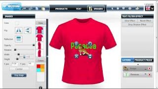 Custom t shirt design software and application Tool by Panaceatek.com