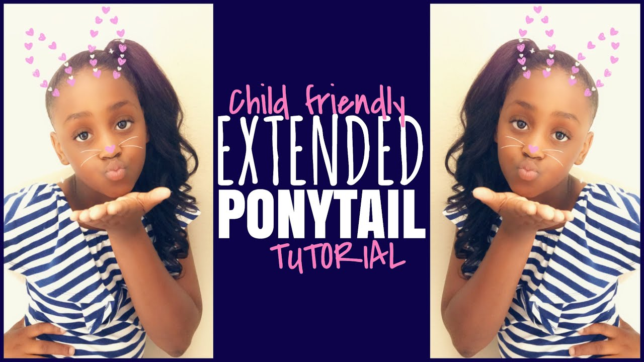 Kids Hairstyles With Weave Extended Ponytail Youtube