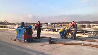 Дробеструйная машина SPE12E(www.forbalt.ru Дробеструйная обработка бетонной поверхности путепровода., 2013-10-30T05:59:37.000Z)
