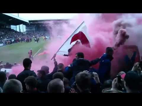Liverpool fans Pyro show away at Fulham.