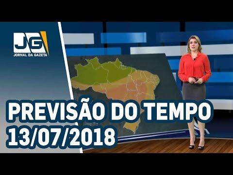 Previsão do Tempo  - 13/07/2018