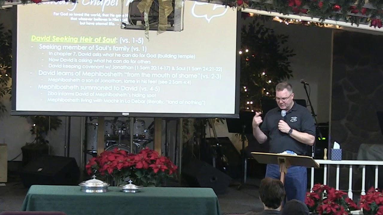 12 December 2018 | CCWO Midweek study in 2 Samuel 9 | Pastor Dan Jacobson