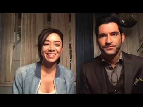 Tom Ellis and Aimee Garcia live stream on Facebook