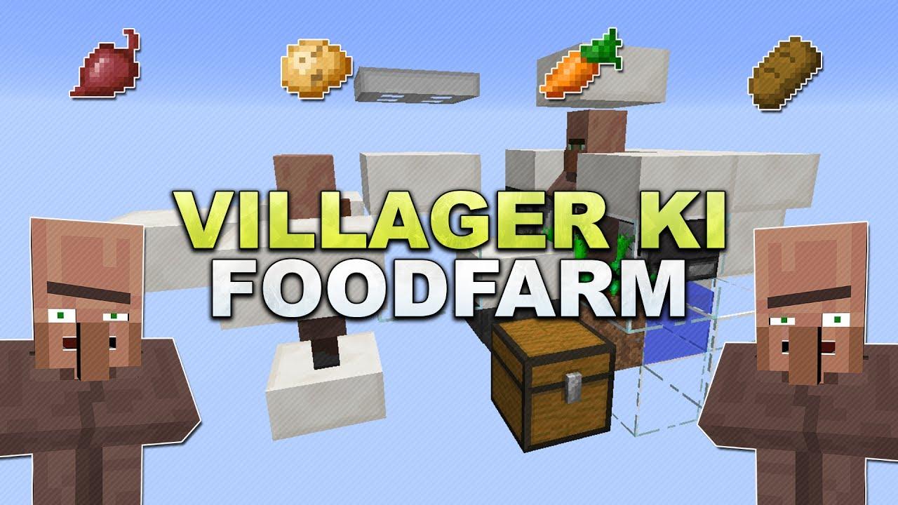 Minecraft Villager KI Food Farm Tutorial YouTube - Minecraft nutzliche spielerkopfe