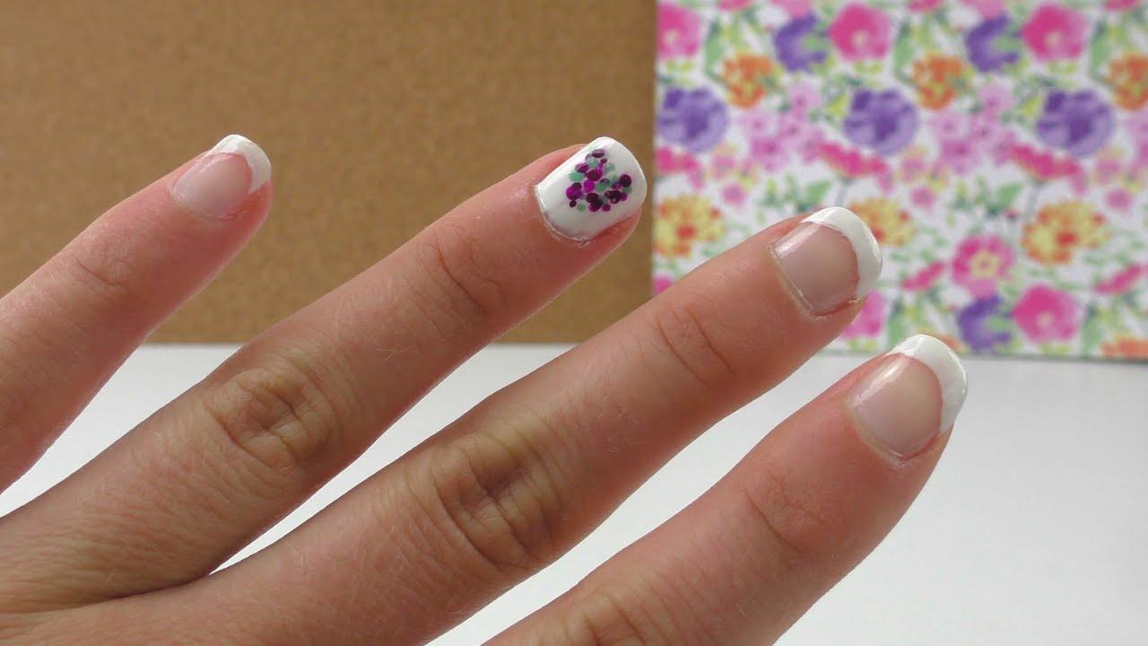 Nagel Design Herzchen auf einem Nagel & Frenchnails - für Anfänger ...