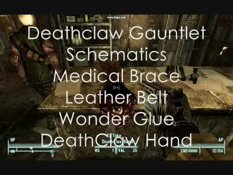 Fallout 3 claw Gauntlet Schematics Full Guide on