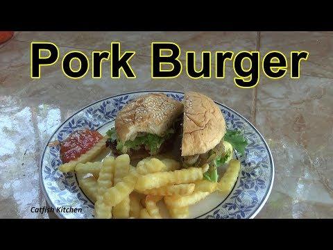 Homemade Pork Burger, Thai Influenced Pork Burger. Video Recipe.