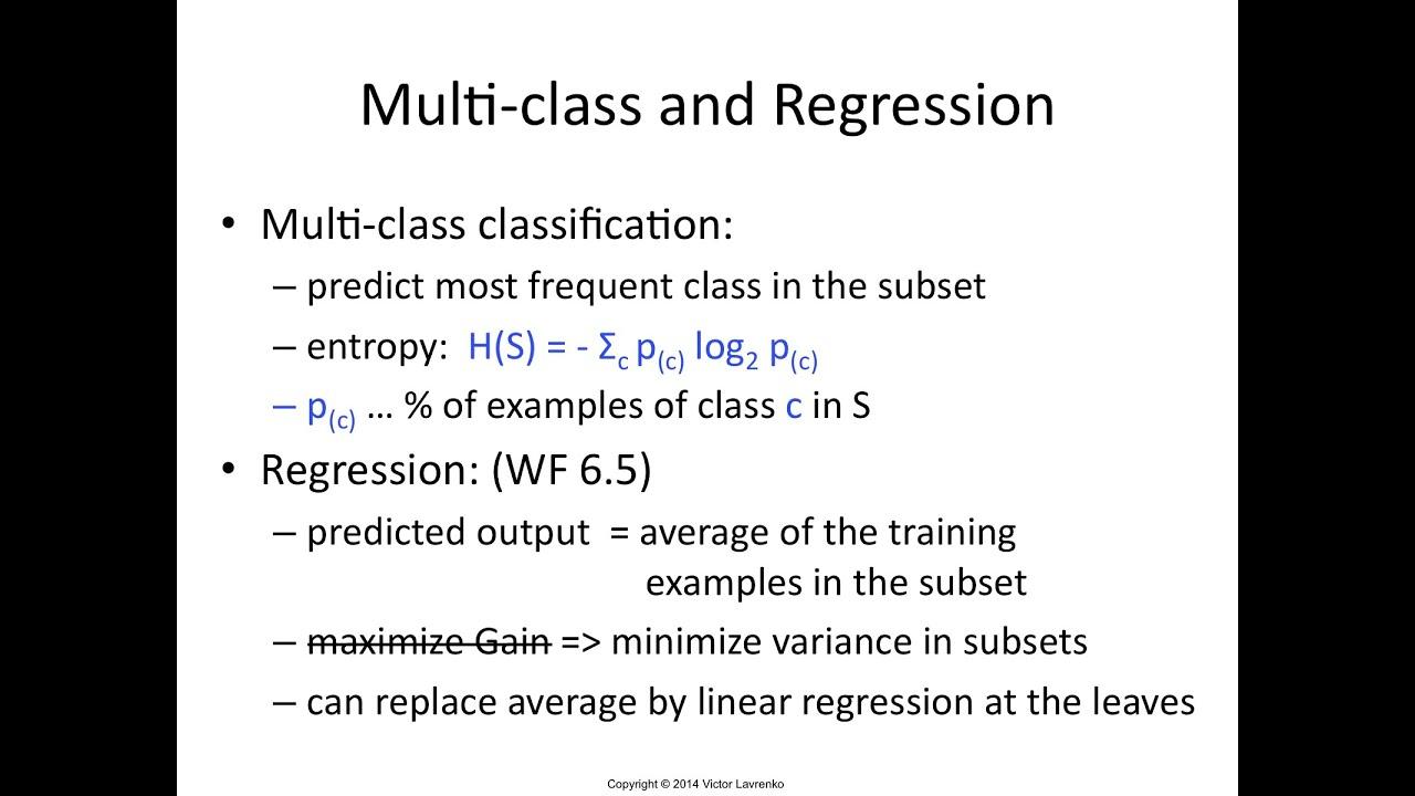 IAML7 12 Decision tree regression