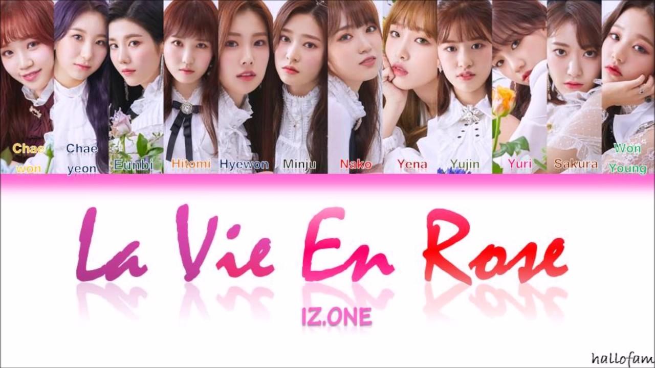 IZONE (아이즈원) – 'La Vie en Rose' (라비앙로즈) Lirik (Sub Indo) (Color Coded  Lyrics Han/Rom/Indo)