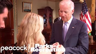 Leslie Meets Joe Biden - Parks and Recreation