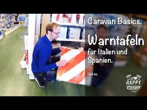happy camping warntafel f r italien spanien youtube. Black Bedroom Furniture Sets. Home Design Ideas