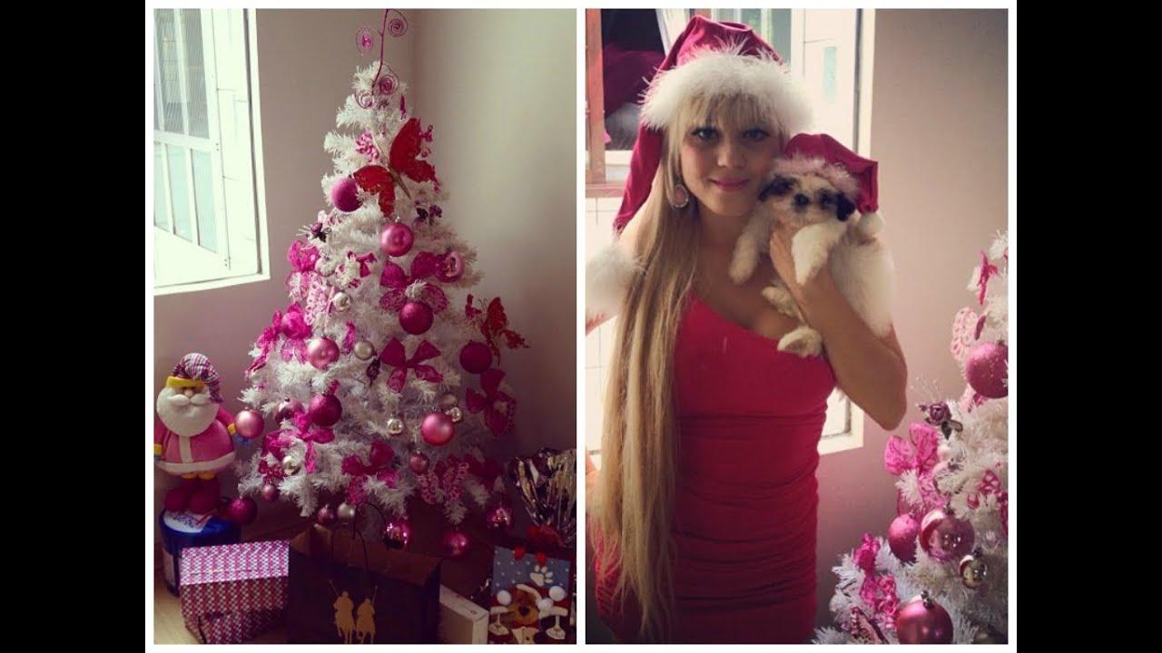decoracao arvore de natal azul:Como deixar sua árvore de Natal ROSA & BARBIE + recadinho – YouTube