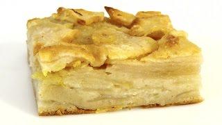 видео «Невидимый» яблочный пирог! Нашла этот рецепт в бабушкиной тетрадке.