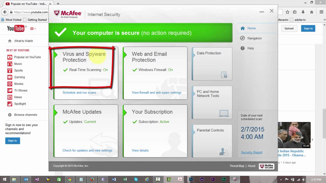 how to disable the mcafee antivirus