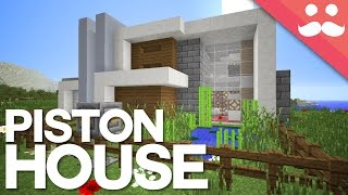 The LARGE Minecraft Piston House!