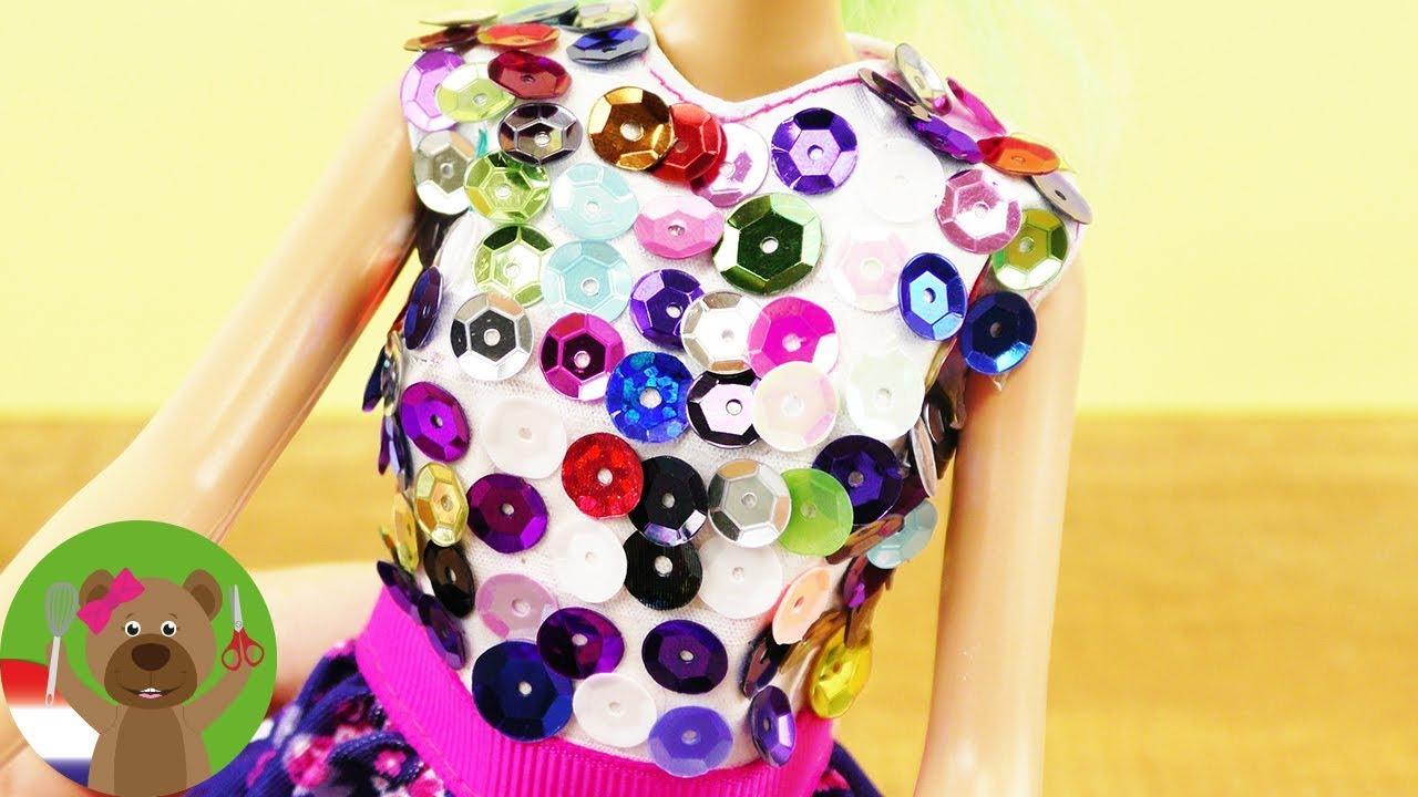 Kleding Maken.Barbie Diy Jurk Idee Barbie Kleding Zelf Maken Nieuwe Look Voor