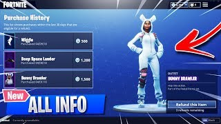 EVERYTHING You NEED To Know about the FORTNITE REFUND SYSTEM! New Fortnite Refund Skins Information!
