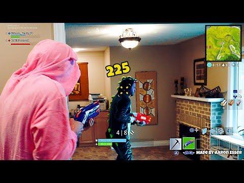 Nerf meets Fortnite Battle Royale #1   Shotgun Noobs!
