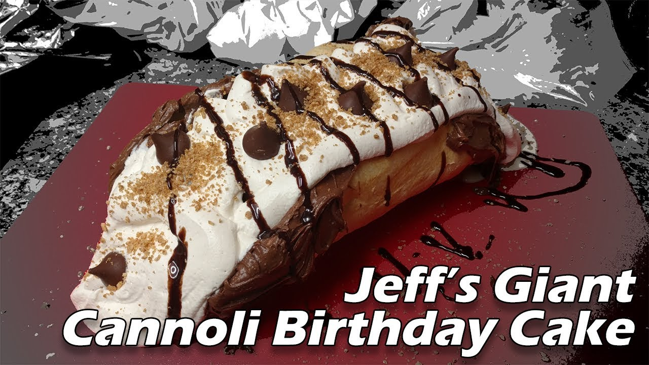 Jeffs Giant Cannoli Birthday Cake Jeffs Birthday 2017 Youtube