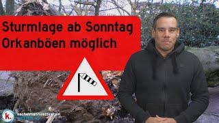 Sturm in Deutschland Sonntag und Montag - markante Kaltfront möglich