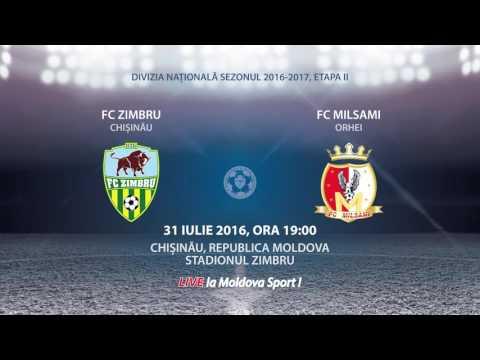 PROMO: ZIMBRU - MILSAMI, LIVE LA MOLDOVA SPORT // 31.07.2016, ORA 19:00
