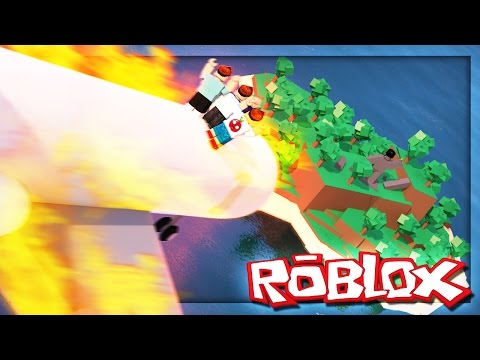 Plane crashes into an island in roblox