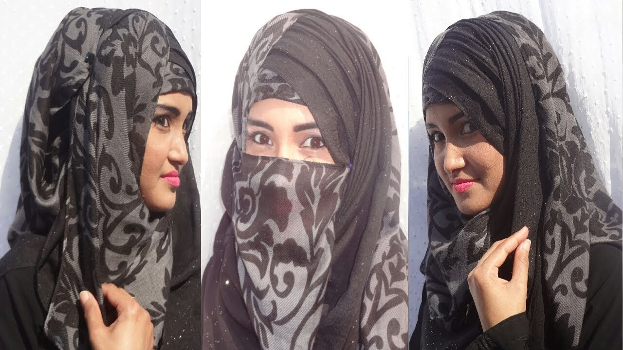 Hijab & niqab tutorial using two scarfs BY IRANI HIJAB BD