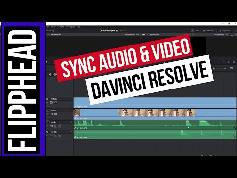 Sync Video and Audio Davinci Resolve 2019 | The Easy Way