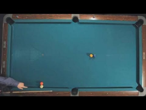 how to do the banana shot pool trick shots youtube. Black Bedroom Furniture Sets. Home Design Ideas