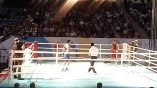 Садриддин Ахмедов (KAZ) red - Батуров Бобо-Усман (UZB) blue FINAL 69кг