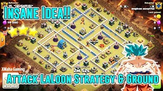 OMG!! INSANE IDEA ATTACK LAVLOON & GROUND STRATEGY TH12 ( Clash of Clans )