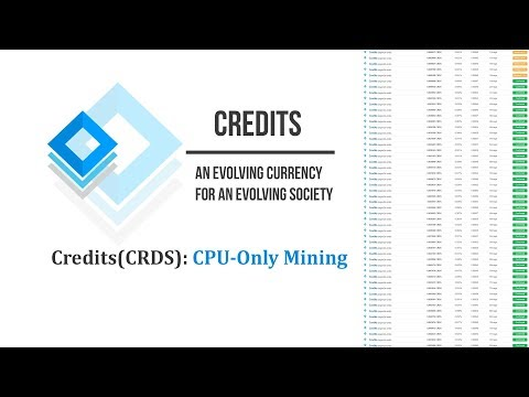 How to mine Credits (CRDS): CPU - only Mining | Argon2d PoW