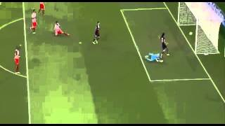 Olympiakos vs Paris saint germain 1-4 (17-09-2013) Cavani Goal