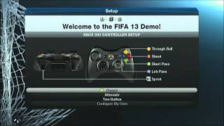FIFA13 Loading titles and Menu Options!