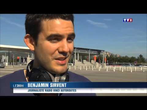 Radio VINCI Autoroutes dans le JT de 20h de TF1 du 29 août 2015