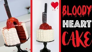 HALLOWEEN HEART CAKE | How to make a Bleeding Heart Red Velvet MURDER Cake