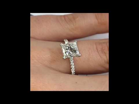1.92 ct Princess Cut Diamond Engagement Ring