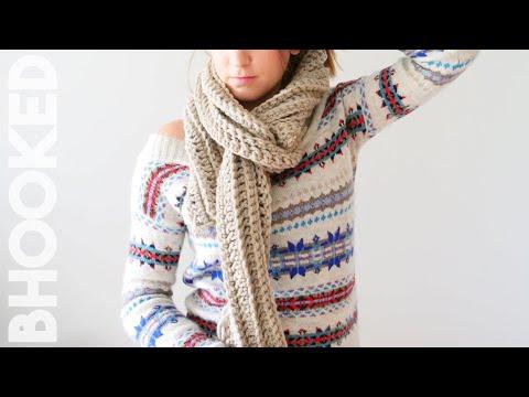 Single chain crochet scarf