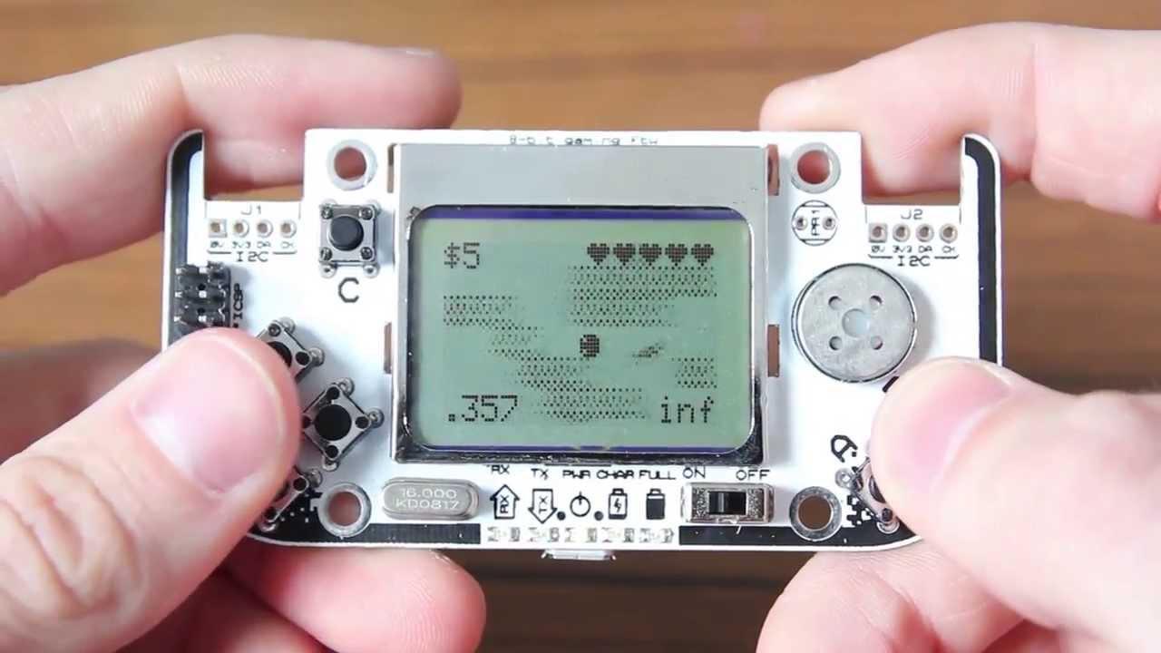 Gamebuino an arduino game console preview youtube