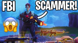 *FBI KID SCAMMER*Almost Scammed me 👿(Scammer Gets Scammed) Fortnite Save The World