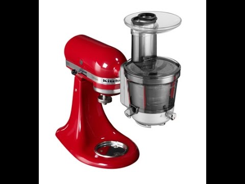 kitchenaid juicer and sauce attachment. kitchenaid stand mixer maximum extraction slow juicer and sauce attachment 5ksm1ja kitchenaid