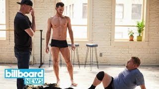 Channing Tatum Trains James Corden for 'Magic Mike' Routine | Billboard News