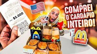 COMPREI o CARDÁPIO INTEIRO do MCDONALD'S nos EUA!!!