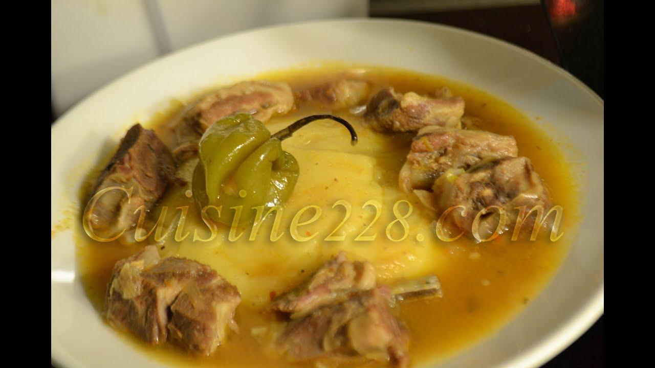 Foufou fufu sauce claire cuisine ivoirienne avec de la farine de foufou youtube - Cuisine claire ...