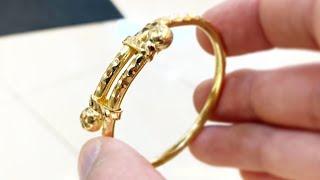 Making a Gold Baby Bangle Kada | Gold Jewelry Making | 4K Video